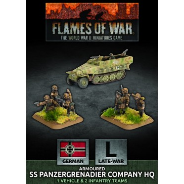 Flames of War - Armoured SS Panzergrenadier Company HQ