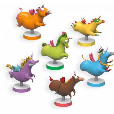 Unicorn Fever : Lot de 6 Figurines