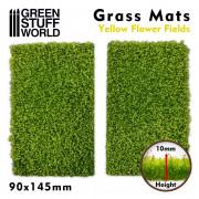 Grass Mat Cutouts - Yellow Flower Field