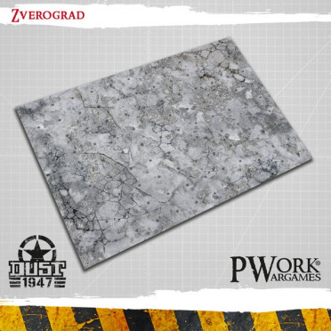 Official Dust 1947 Gaming Mat - Zverograd (9 squares by 12 squares)