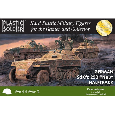 "15mm WW2 German Sdkfz 250 ""Neu"" Halftrack"