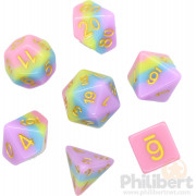 Set de dés JDR - Candy et Or