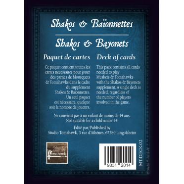 Mousquets & Tomahawks : Cartes Shakos & Baïonnettes