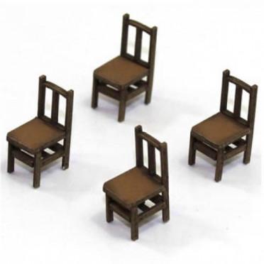 Chaises à Dossier Banister A (x4)