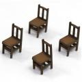 Chaises à Dossier Banister A (x4) 0