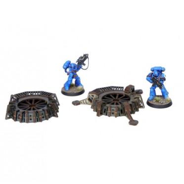 Lignes de défense - Plates-formes de tir (bleu)