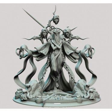 3D Printed Miniatures: Lady of Entropy