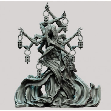 3D Printed Miniatures: Lady of the Marsh Lights