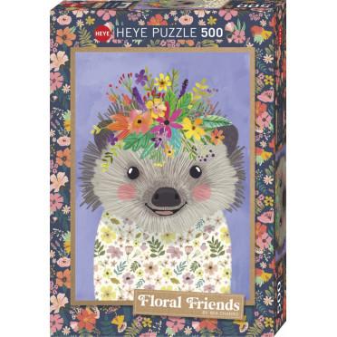 Puzzle - Funny Hedgehog - 500 Pièces