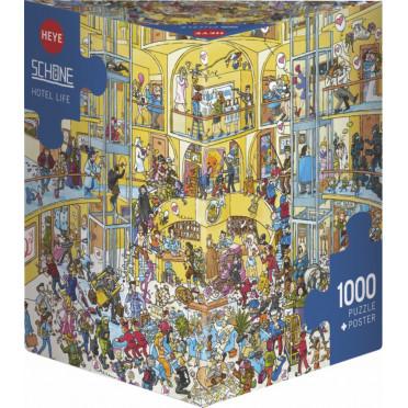 Puzzle - Hotel Life de Christoph Schöne – 1000 Pièces