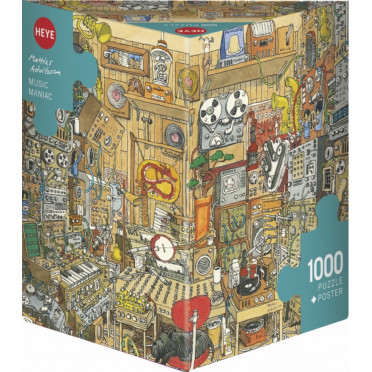 Puzzle - Music Maniac de Mattias Adolfsson – 1000 Pièces