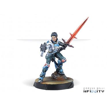 Infinity - PanOceania - Shona Carano, Aristeia! Swordmaster (Submachine gun)