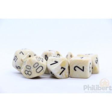 Set de 7 Dés JDR Chessex : Marble