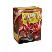 100 Dragon Shield Matte Ruby
