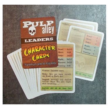 Pulp Alley: Character Cards - Leaders