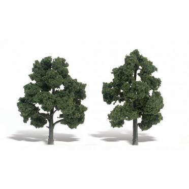 Woodland Scenics - Arbres à feuilles - Medium Green : 15-18 cm