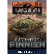 Flames of War - Bagration: Finnish Unit Cards