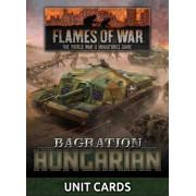 Flames of War - Bagration : Hungarian Unit Cards