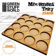 Plateaux de Mouvement MDF 25mm 122x122 mm