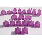 Carcassonne - Set de 19 Meeples- Frozen Lila