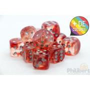 Set of 12 6-sided dice Chessex : Nebula