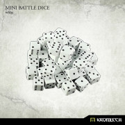 Mini Battle Dice 100x White 7mm