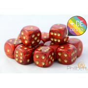 Set of 12 6-sided dice Chessex : Scarab