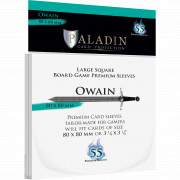 Sleeves Paladin - Owain Large Square - 80 x 80 mm - 55p