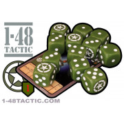 1-48 Tactic - 12 US Infantry Faction Dice + Exclusive Limited Edition Weapon Card